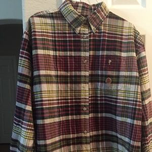 twenty x plaid long sleeve button up shirt XL